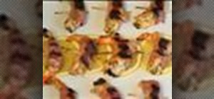 Make bacon wrapped shrimp canapes
