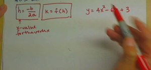 Use vertex formula to find the vertex of a parabola