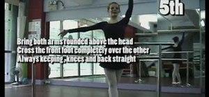 Practice beginning floor, barre, & centre ballet