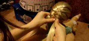 Do a fishtail braid variation on your American Girl doll