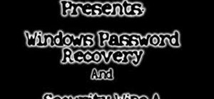 Recover your Windows password and wipe hard disk