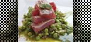 Make a torched yellowfin (or ahi) tuna and pea salad with anchovy vinaigrette