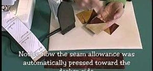 Make half and quarter square quilting triangles