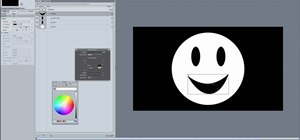 Create a talking smiley face animation in Motion 4