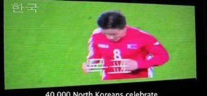 North Korean Broadcast of Game vs Brazil