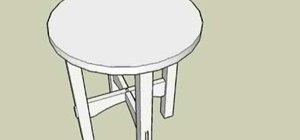 Make a tabouret table designed by Gustav Stickley