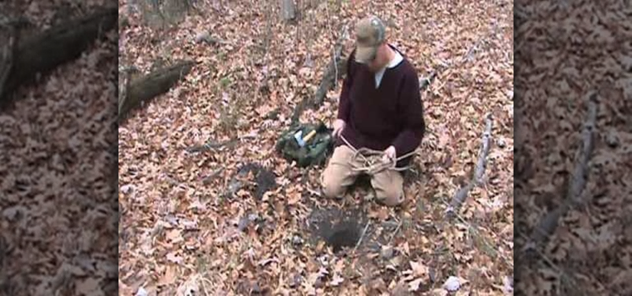 how to make a snare trap for small game