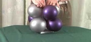 Make a tall balloon centerpiece for weddings & events
