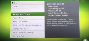 Set the family controls settings on your Xbox 360