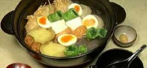 Make Oden (Japanese assorted stew)