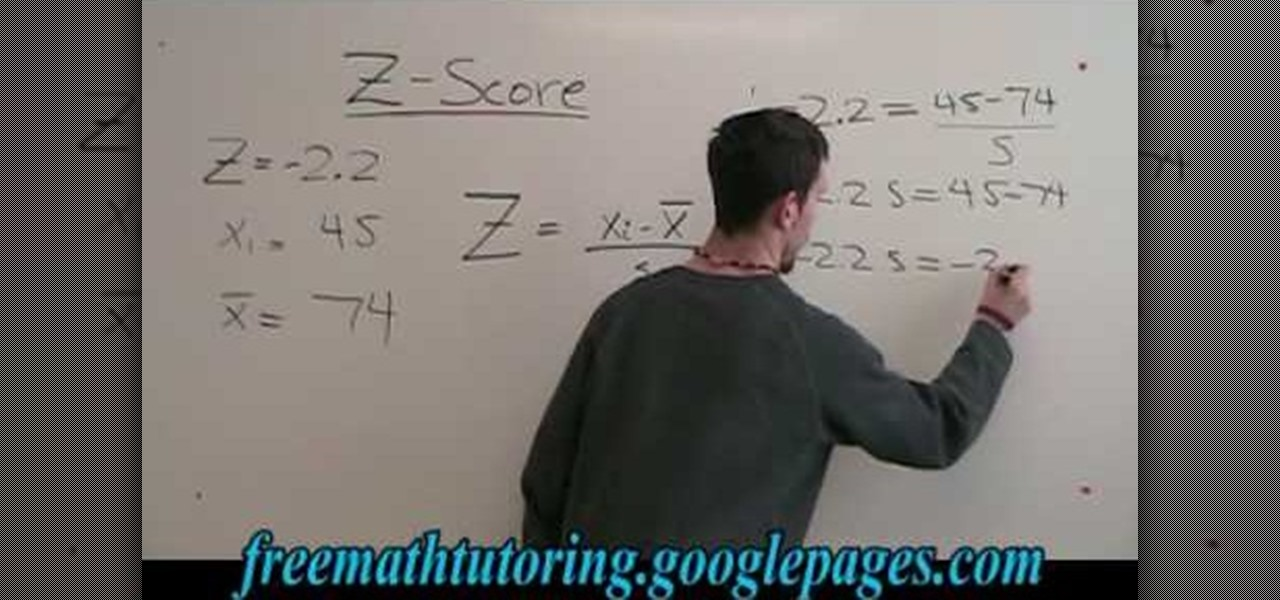 How to find the standard deviation with the z score formula math how to find the standard deviation with the z score formula math wonderhowto ccuart Gallery