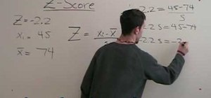 Find the standard deviation with the Z-Score formula