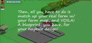 Create designs with hay bales in FarmVille (10/22/09)