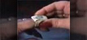 Make a dollar bill ring