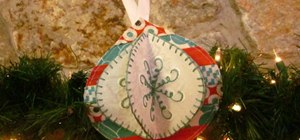 Make lovely and festive Christmas ornaments using a sewing machine