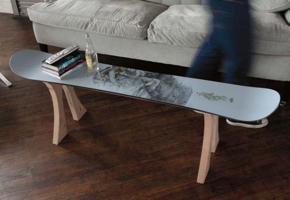How to Make a Table Out of an Old Snowboard