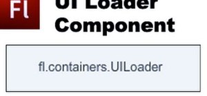 Add the UI loader component to your website using Adobe Flash