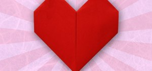 Origami a heart