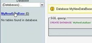 Install WAMP and create a MySQL database