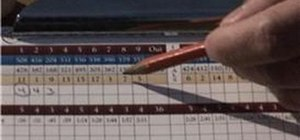 Keep score in golf games