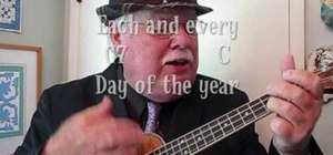 "Play Neil Sedaka's ""Calendar Girl"" on the ukulele"