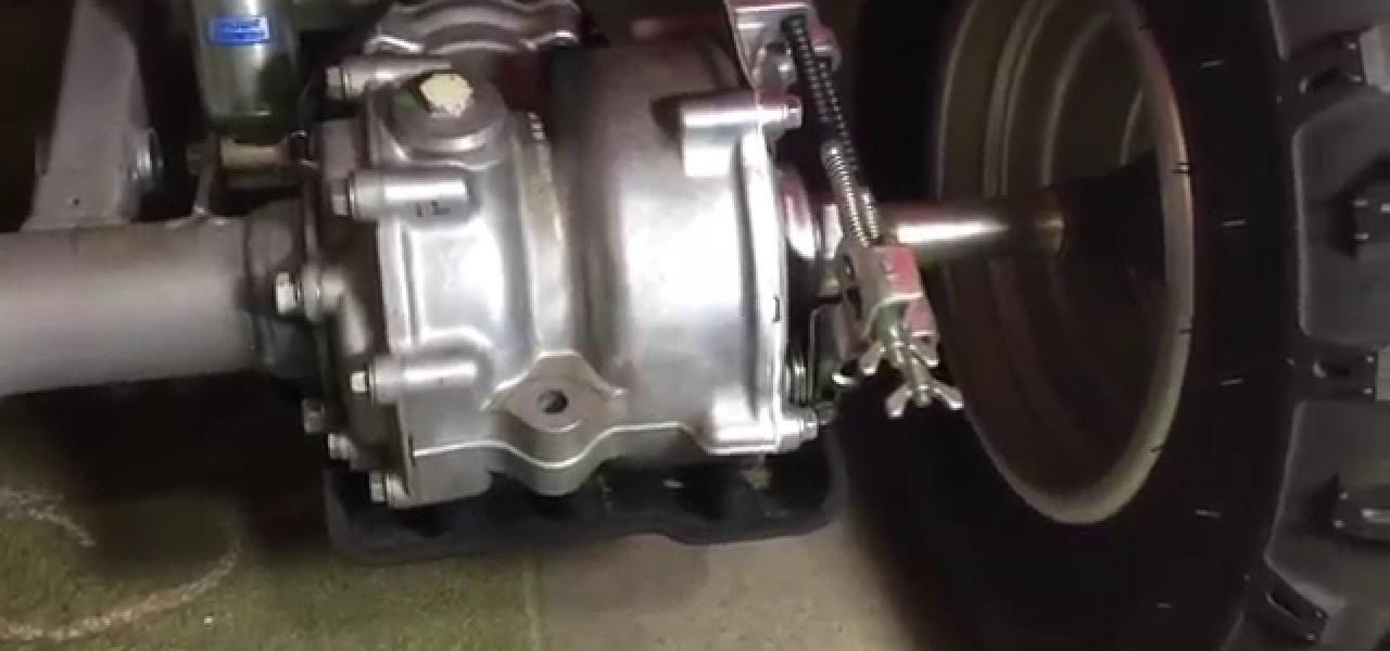 Check the Rear Brakes on a Honda 250X Using Wear Indicator