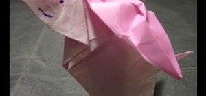 How To Make 3D Origami Rabbit Kid | cómo hacer un conejo de ... | 140x300