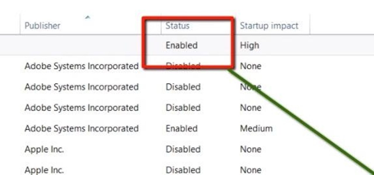 Enable and Disable Start Up Applications in Windows 8