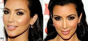 Create Kim Kardashian's signature bronzed makeup look