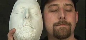 Make a face mold with alginate