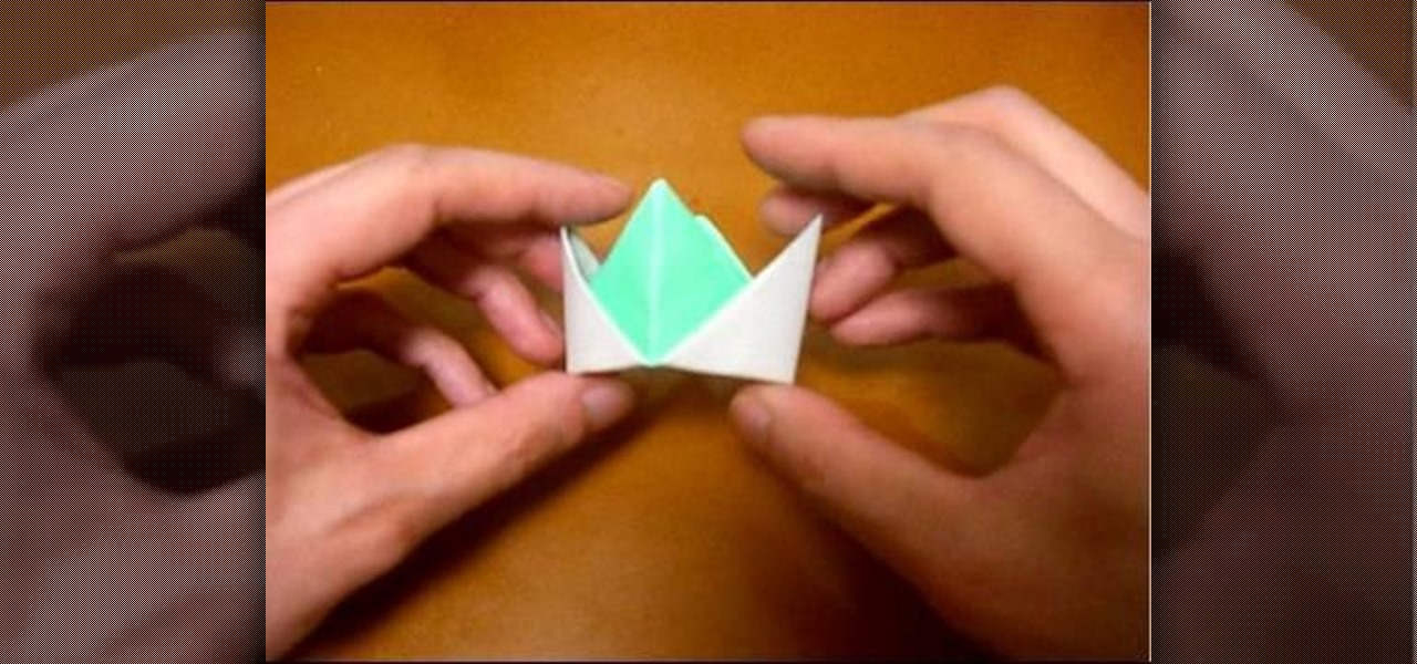 How To Origami A Crown Origami Wonderhowto