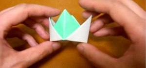 Origami a crown