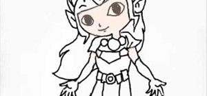 Draw toon Zelda characters