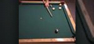 Straighten a kick shot in pool using reverse English