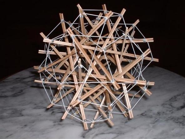 Twisted Small Stellated Dodecahedron Tensegrity