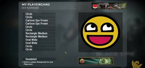 Create a custom Awesome Face playercard emblem in Call of Duty: Black Ops