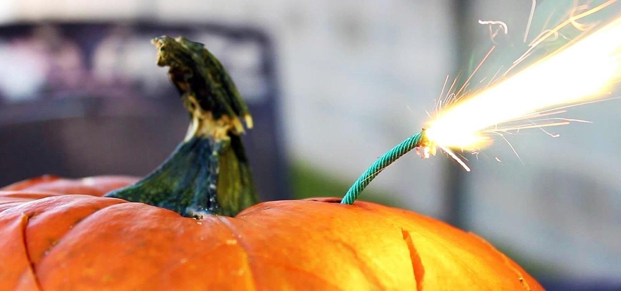 Make an Exploding Pumpkin Face (aka Blast-O'-Lantern) for Halloween