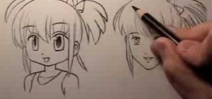 Draw a cartoon vs. a realistic manga face