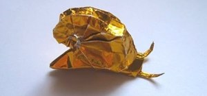 Origami a little snail
