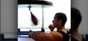 Use the speed bag for boxing