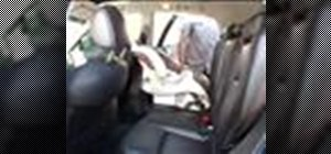 Install a rear facing newborn child car seat