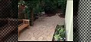 Build a patio from concrete pavers