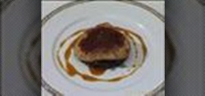 Prepare foie gras escalope in a pan with apple chutney