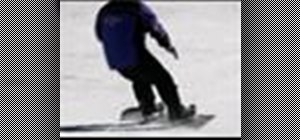 Do skidding and carving turns when snowboarding