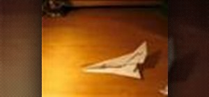 Make an F-102 paper airplane