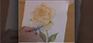 Paint a rose in watercolor