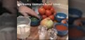 Maketomato basil soup