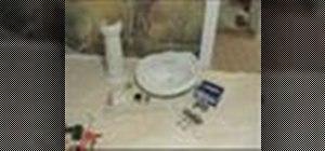 Install a pedestal sink