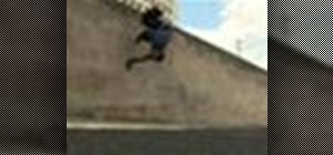 Do a Parkour wall spin