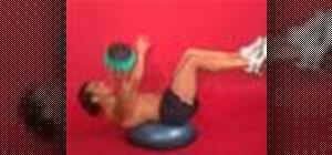 Exercise with the self medicine ball throw on bosu